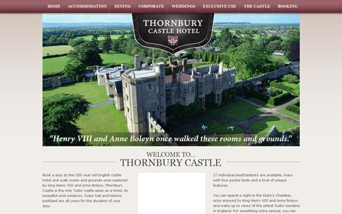 web du lịch Thornbury Castle