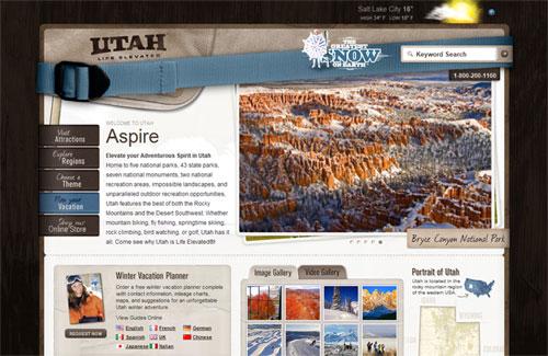 website du lịch utah