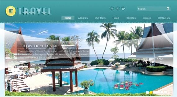 20 Mẫu website du lịch đẹp tuyệt vời