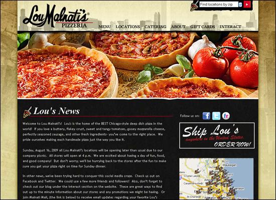 thiet ke website nha hang dep pizzeria