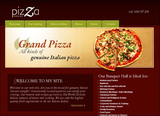 thiet ke website nha hang pizza
