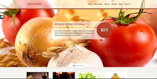 thực phẩm tươi sống là điểm mhấn cho website nhà hàng
