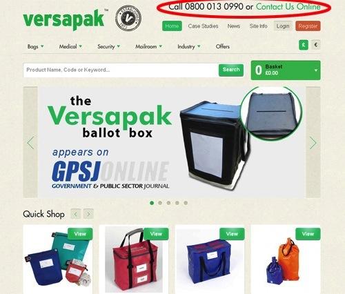 Website tmdt Versapak