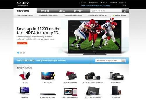 homepage website tmdt sony