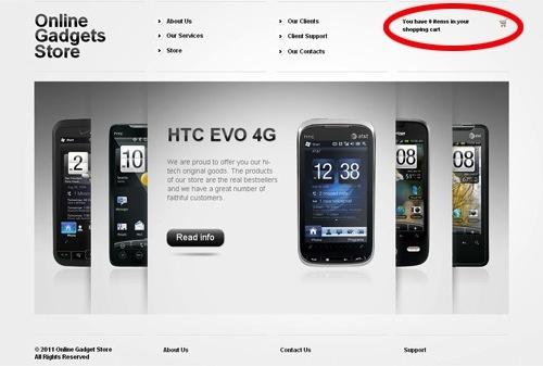 website thuong mai dien tu online gadgets store