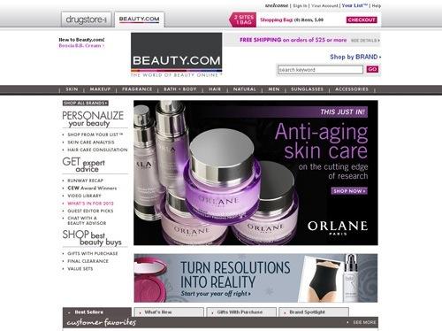 website thương mại điện tử beauty
