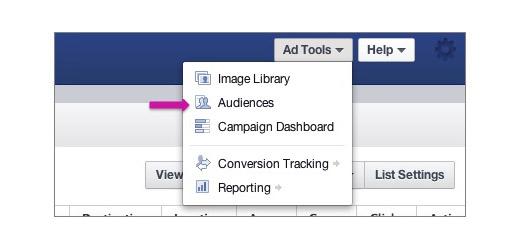 xem bao cao ad tools audiences
