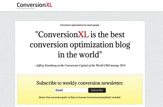 Viết nội dung landing page của conversionXL