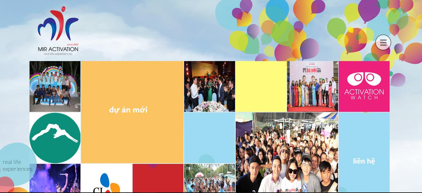 thiết kế website mir activation