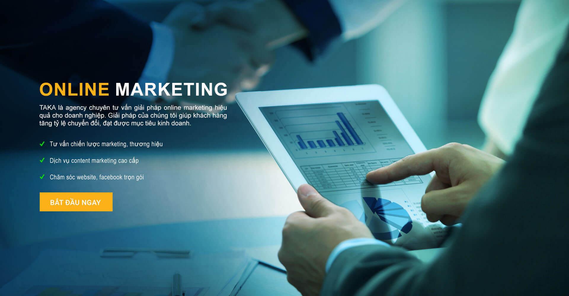 triển khai online marketing taka