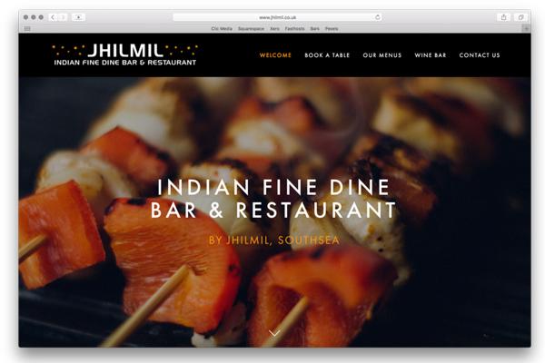 thiết kế website nhà hàng phong cách