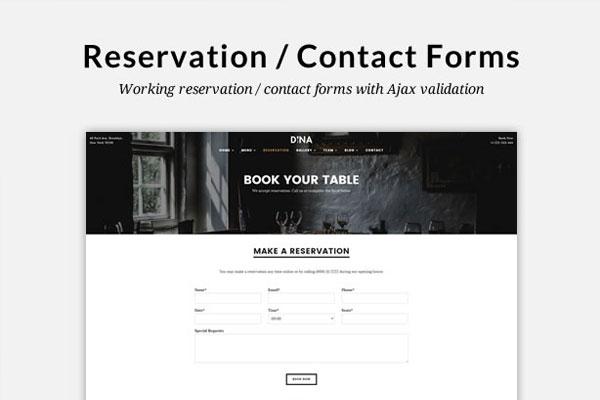 thiết kế website form liên hệ
